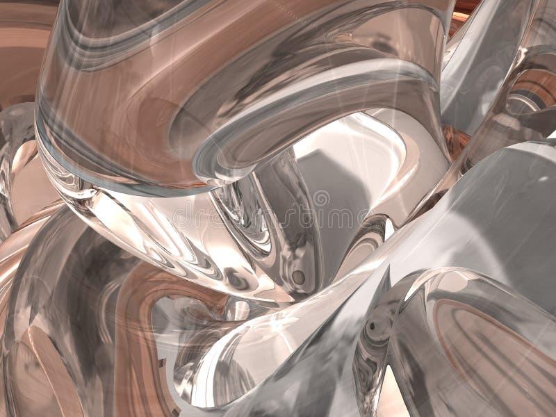 Fundo de vidro abstrato ilustração stock
