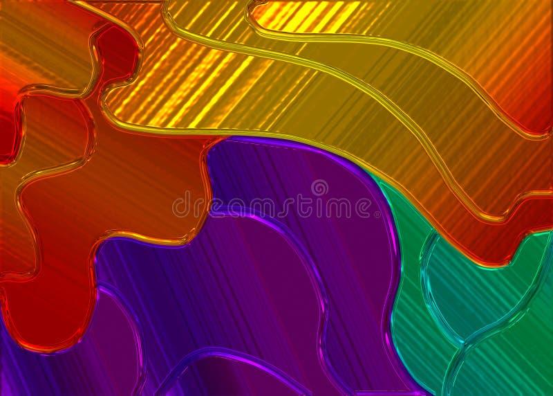 Fundo de vidro colorido. ilustração royalty free