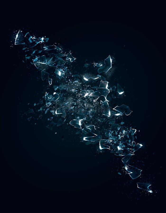 Fundo de vidro quebrado ilustração stock