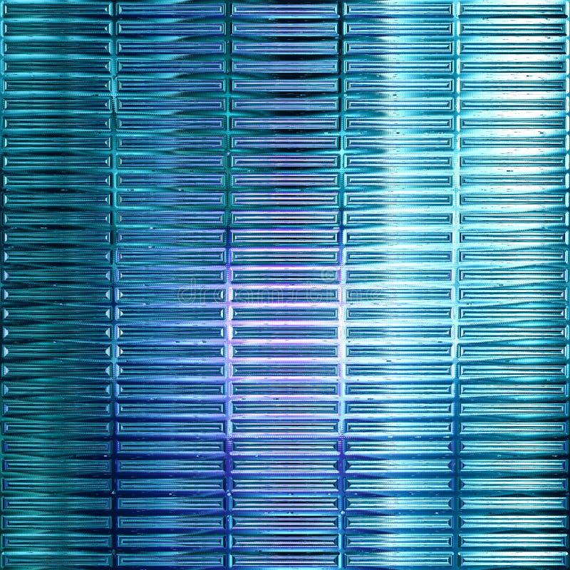 Fundo de vidro sem emenda azul abstrato ilustração stock