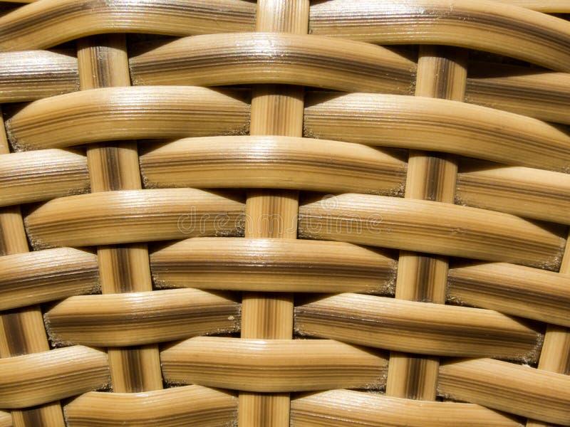 Fundo de vime de madeira ascendente fechado da textura imagem de stock royalty free