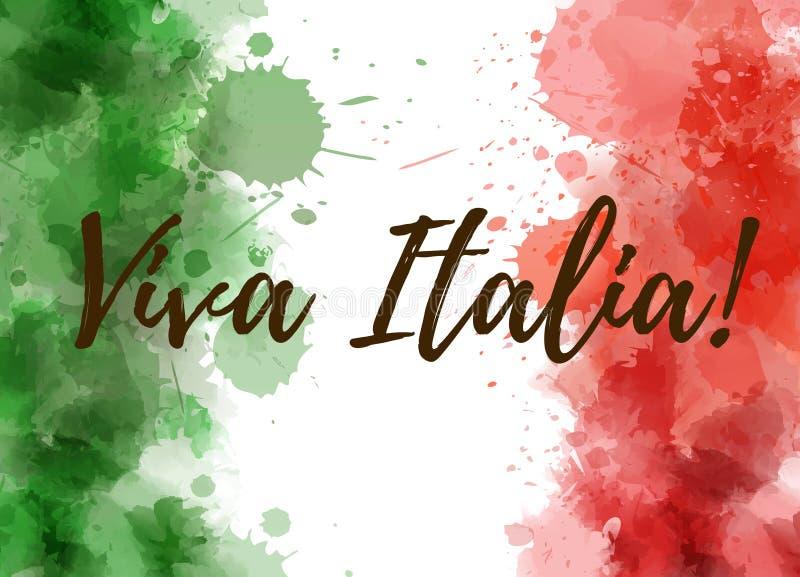 Fundo de Viva Italia ilustração do vetor