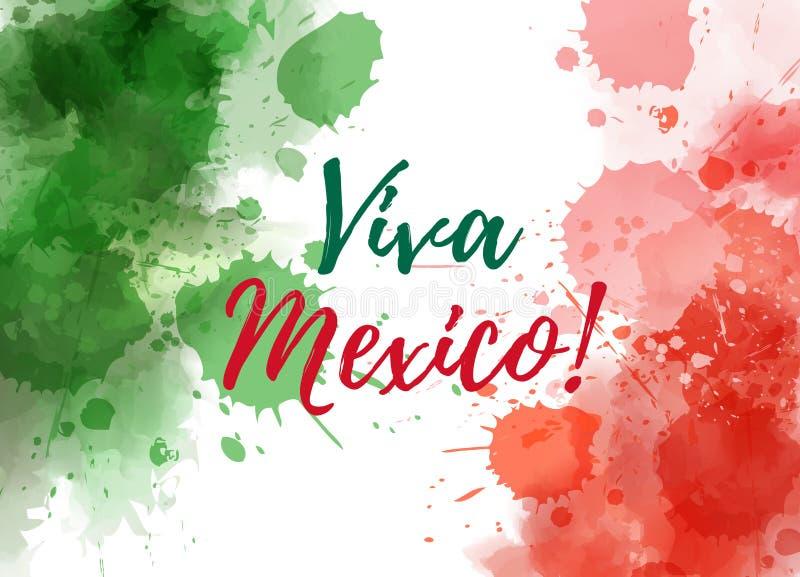 Fundo de Viva Mexico ilustração royalty free
