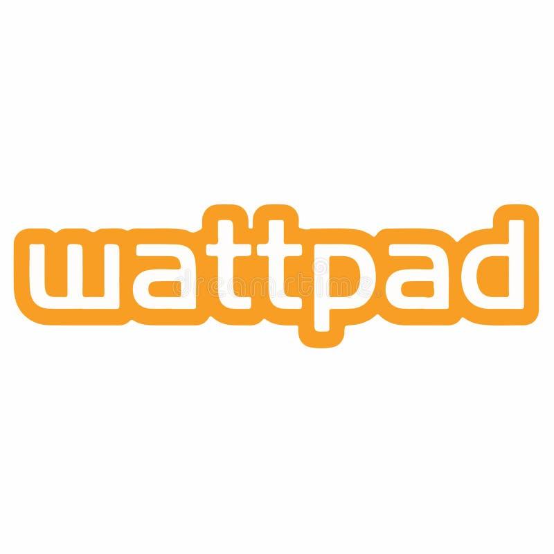 Fundo de Wattpad Logo Vetora Illustration On White ilustração stock