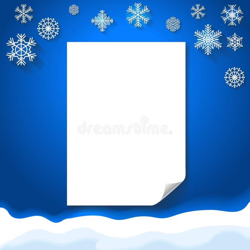 Fundo de Wiinter com Natal do papel vazio ilustração do vetor