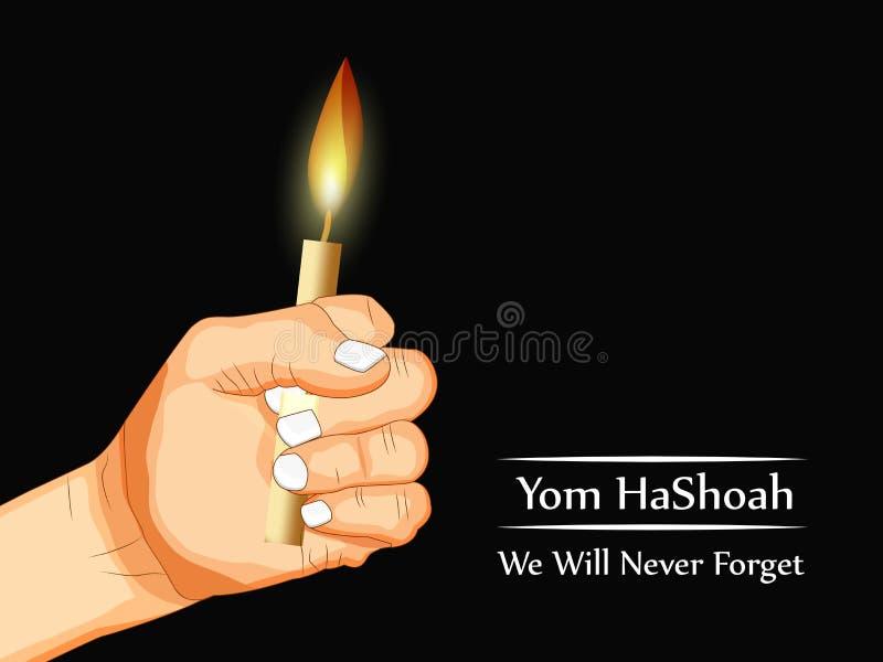 Fundo de Yom HaShoah ilustração royalty free