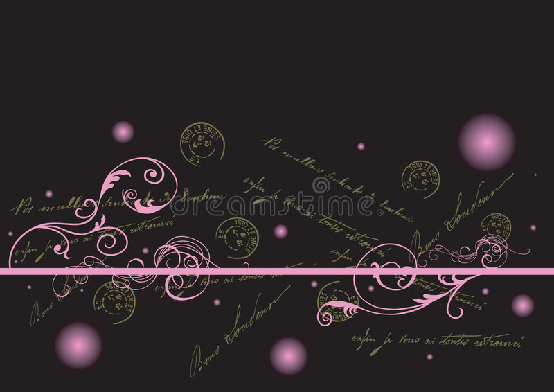 Fundo decorativo ilustração royalty free