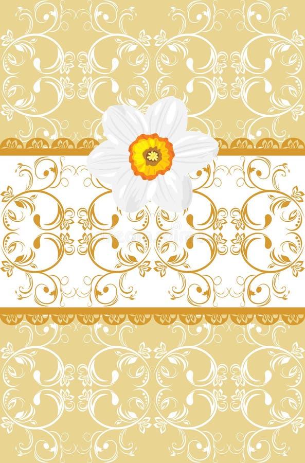 Fundo decorativo com daffodil ilustração royalty free
