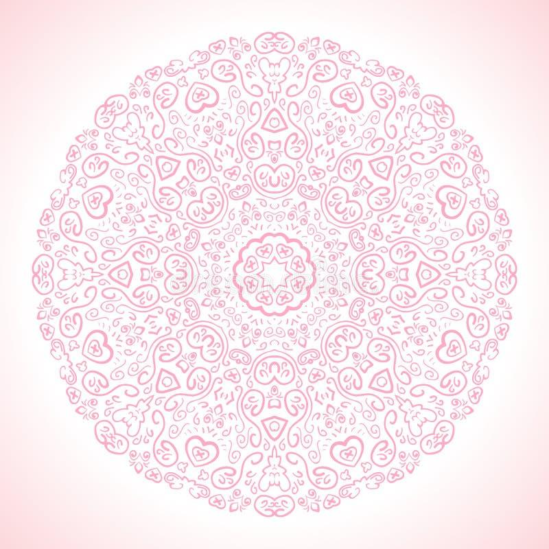 Fundo decorativo cor-de-rosa bonito Vetor ilustração stock