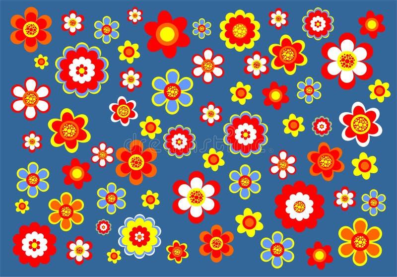 Fundo decorativo da flor ilustração stock