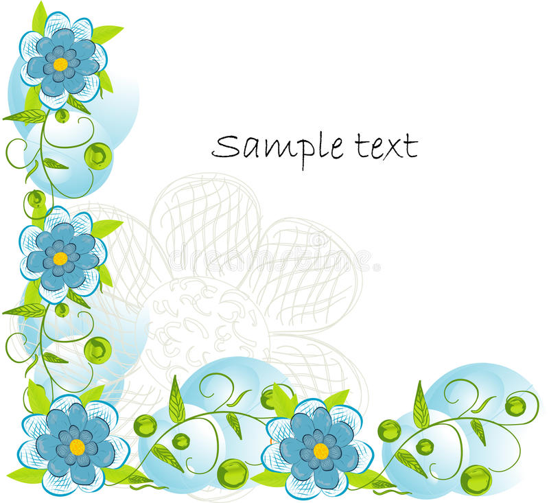 Fundo decorativo da flor de Beautifull ilustração do vetor
