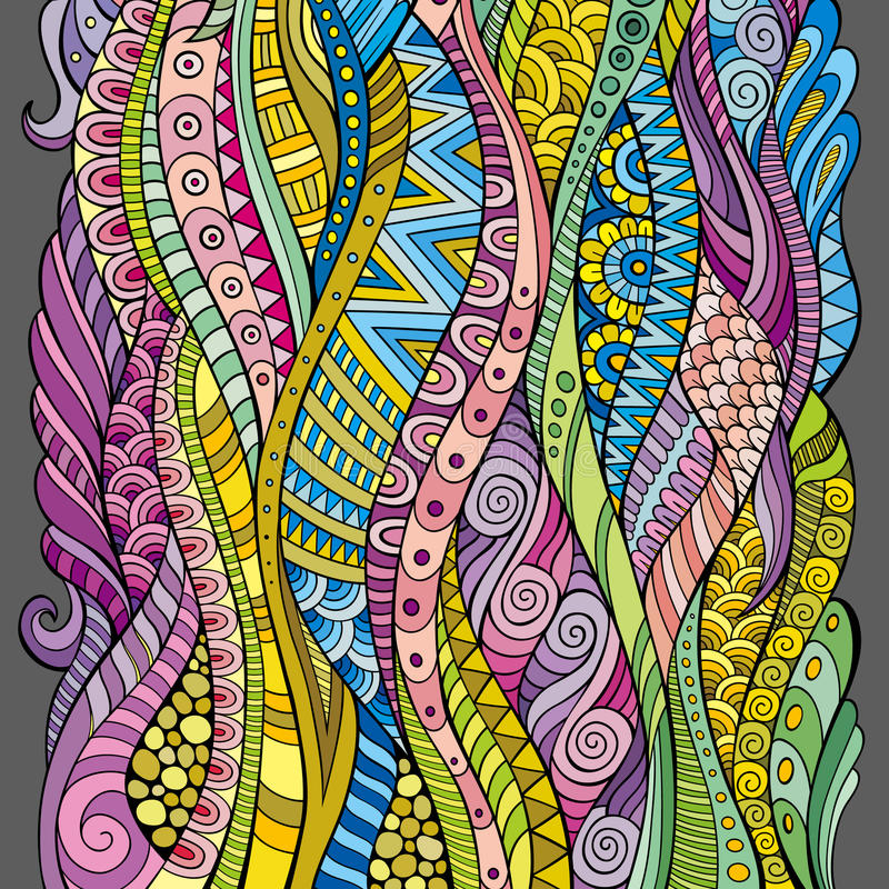 Fundo decorativo das ondas do vetor abstrato ilustração do vetor