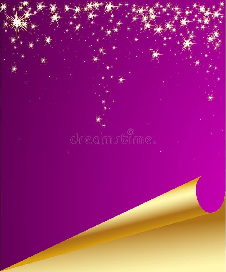 Fundo decorativo de queda da estrela do Natal ilustração royalty free