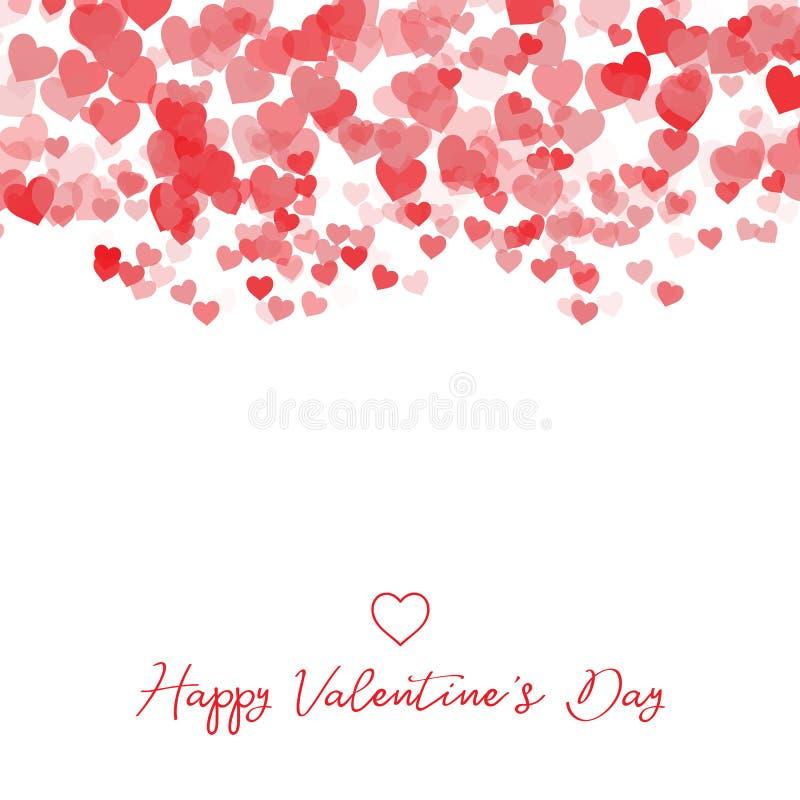 Fundo decorativo do coração do dia do ` s do Valentim ilustração do vetor