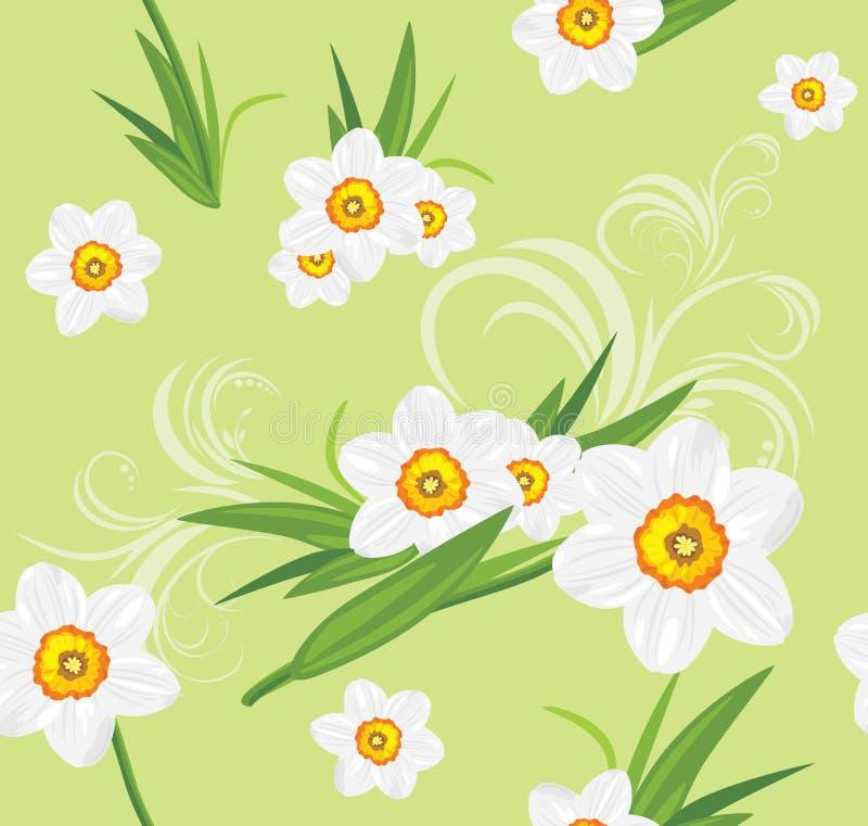 Fundo decorativo do daffodil ilustração stock