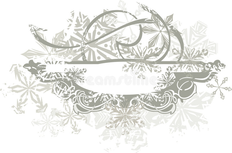 Fundo decorativo do inverno ilustração stock