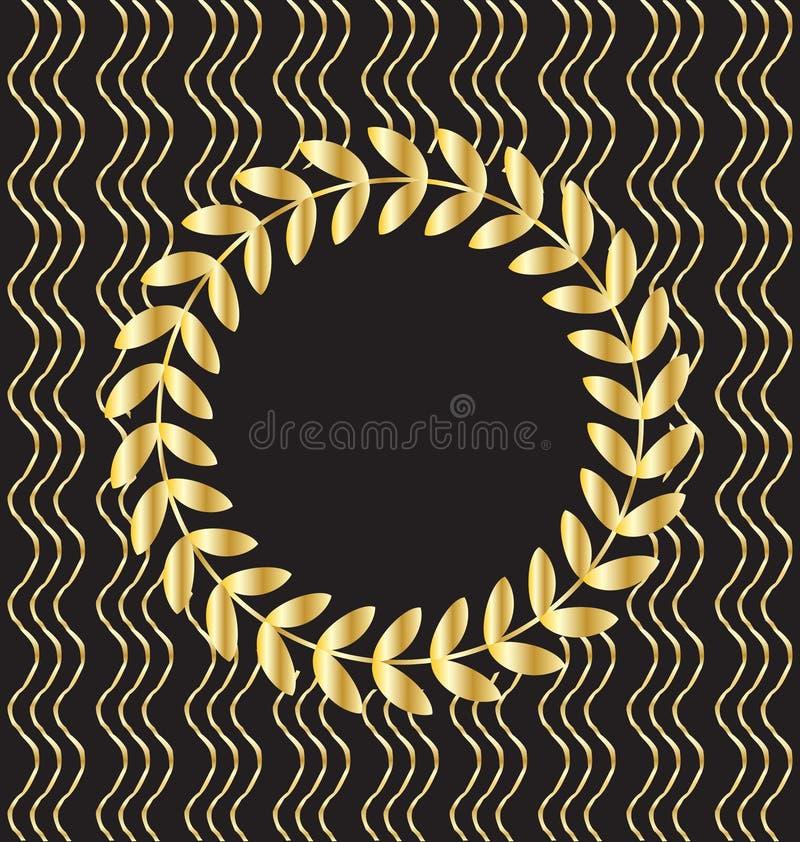 Fundo decorativo do ouro ilustração royalty free