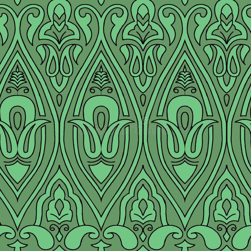 Fundo decorativo do sumário do teste padrão do elefante abstrato ilustração royalty free