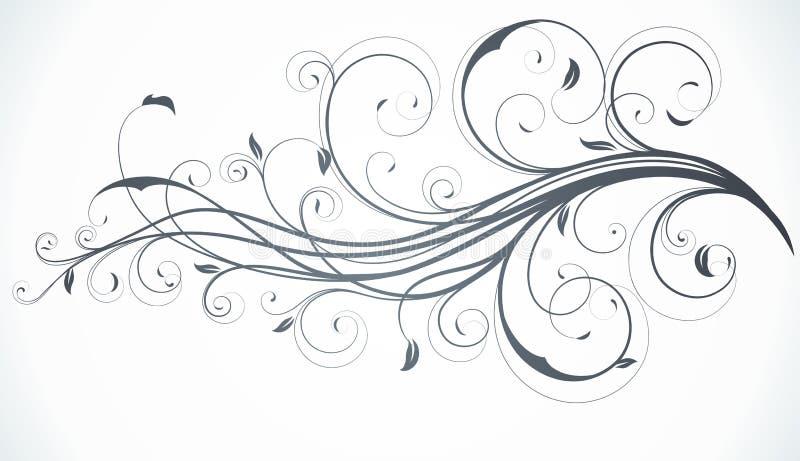 Fundo decorativo floral ilustração stock