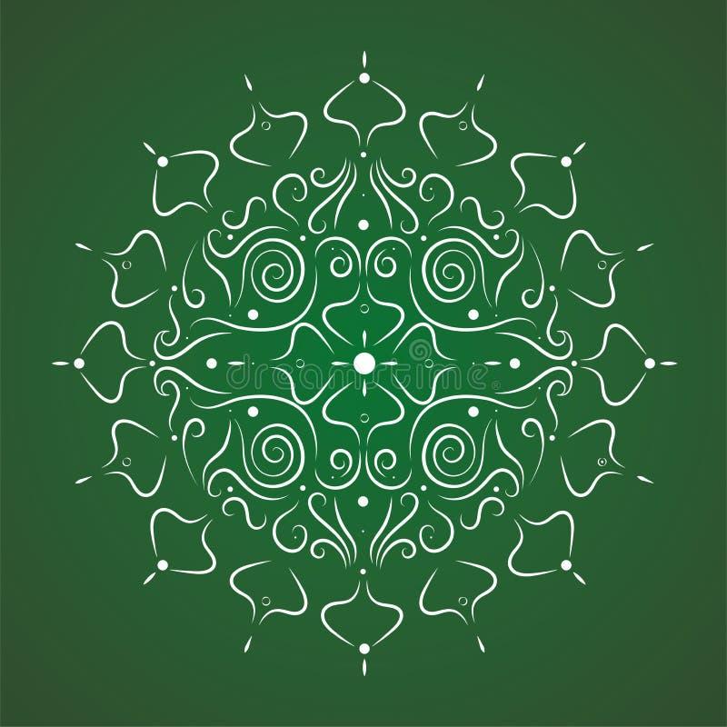 Fundo decorativo floral abstrato ilustração do vetor