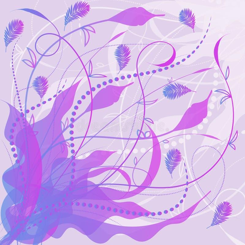 Fundo decorativo floral violeta abstrato ilustração royalty free