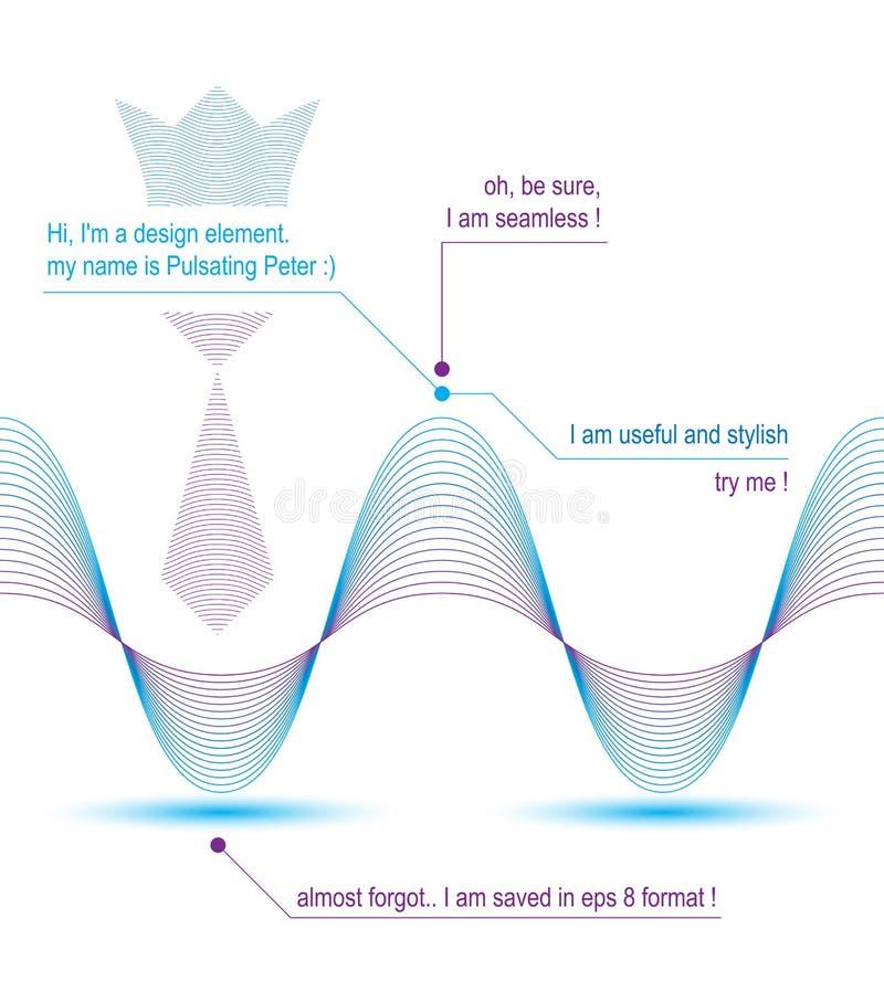 Fundo delgado do motivo de matéria têxtil 3d, linhas de fluxo listrados curvadas ilustração royalty free