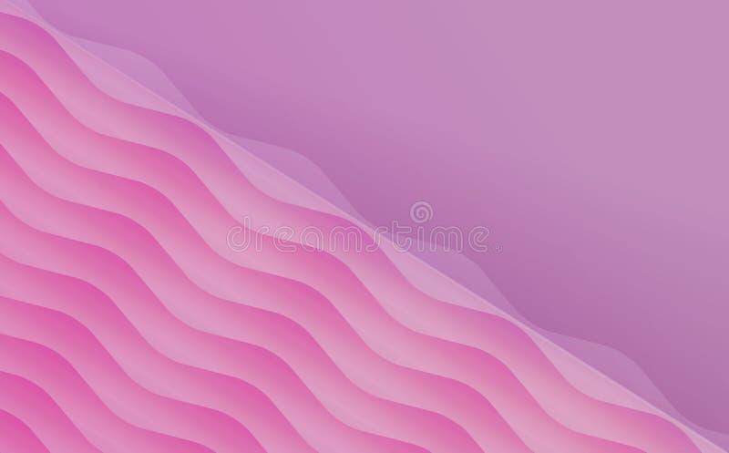 Fundo delicado cor-de-rosa vazio do molde do cartão do convite ilustração royalty free