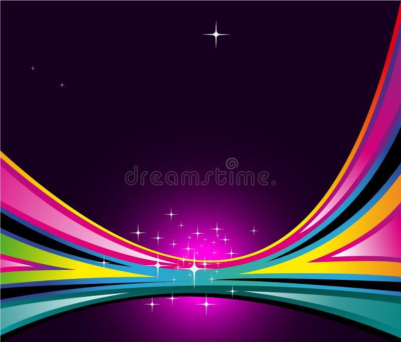 Fundo delicado da mola com cores do arco-íris ilustração stock