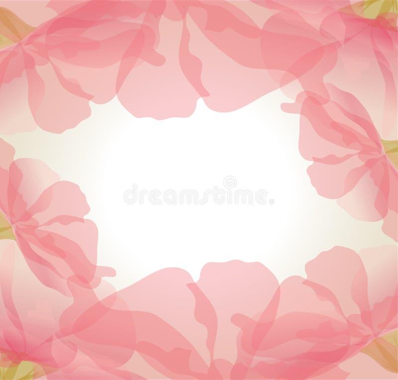 Fundo delicado do vetor das pétalas cor-de-rosa da flor ilustração royalty free