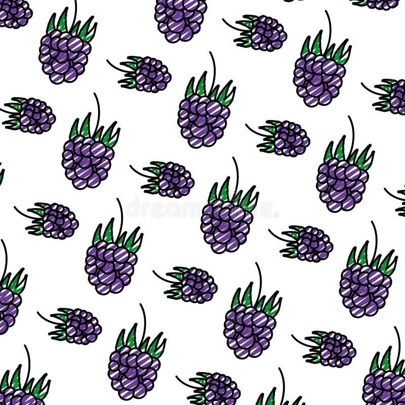 Fundo delicioso do fruto fresco das uvas da garatuja ilustração stock
