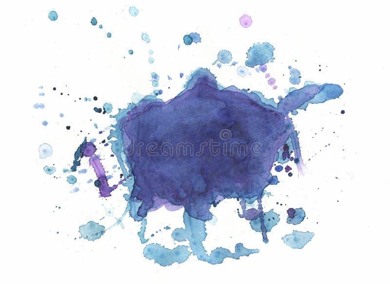 Fundo desenhado à mão abstrato da textura do Watercolour ilustração royalty free