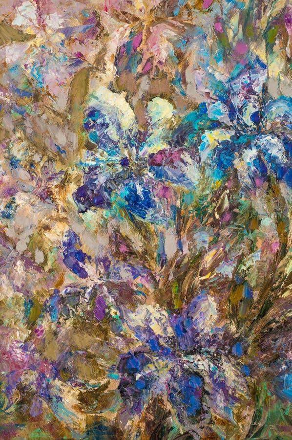 fundo, desenho, pintura, pintada com pinturas de óleo Pintura fotos de stock