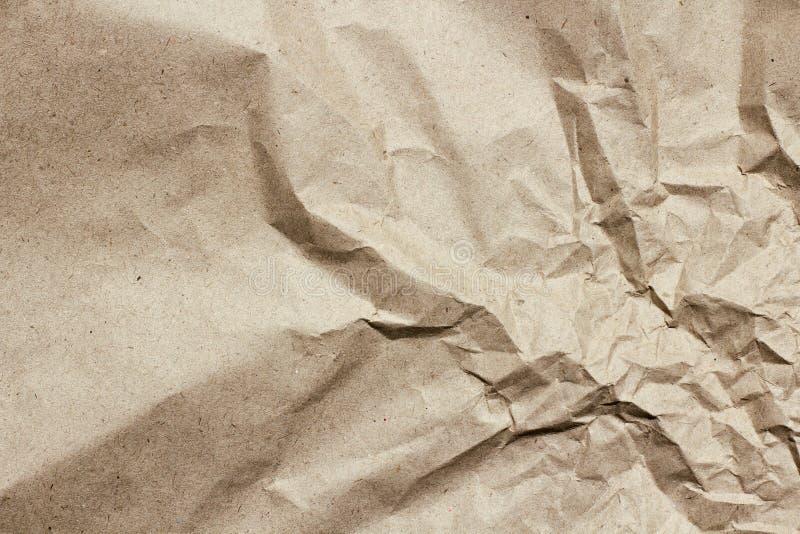 Fundo desintegrado da textura do papel da testa Vincos e riscos Molde velho da letra Papel do ofício para o pacote e os pacotes fotos de stock