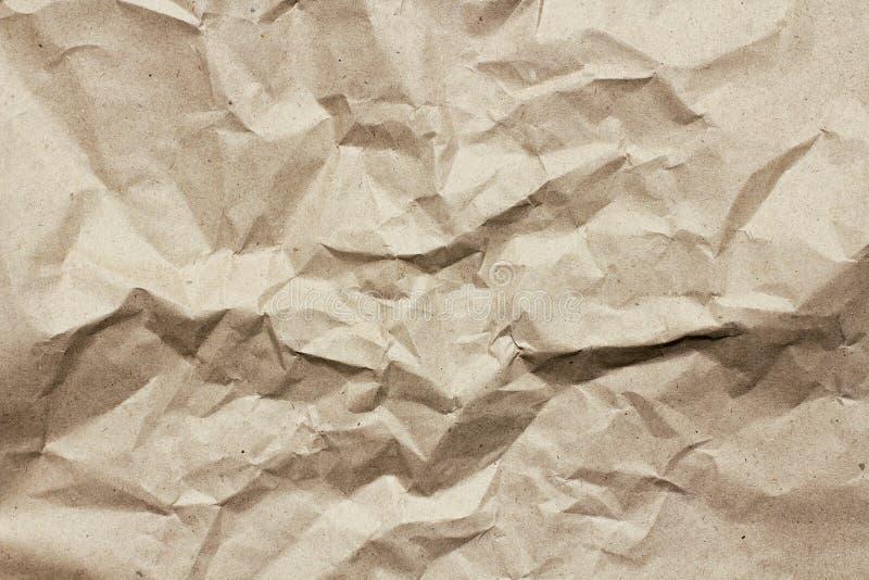 Fundo desintegrado da textura do papel da testa Vincos e riscos Molde velho da letra Papel do ofício para o pacote e os pacotes imagens de stock royalty free