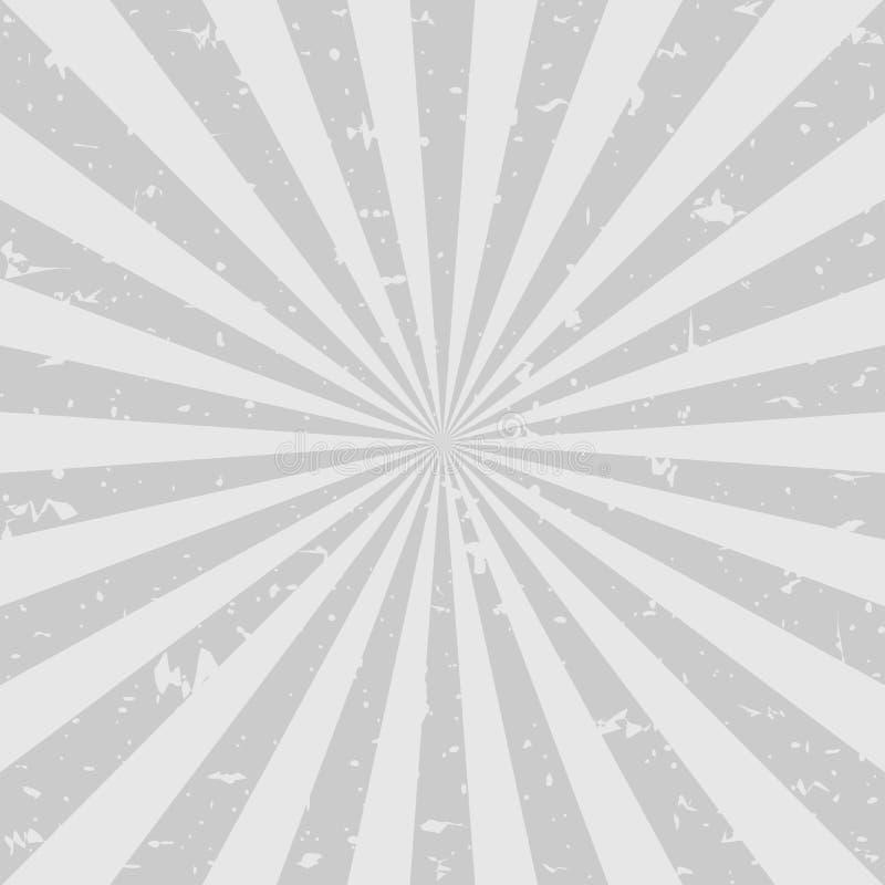 Fundo desvanecido retro do grunge fundo cinzento escuro da explosão de cor Ilustração do vetor ilustração stock