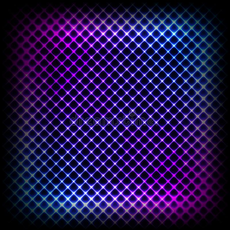 Fundo diagonal de néon colorido, ilustração abstrata ilustração stock