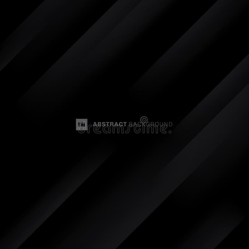 Fundo diagonal moderno preto e cinzento abstrato das listras Vinco de papel da dobra Você pode usar-se para o projeto da tampa, c ilustração stock