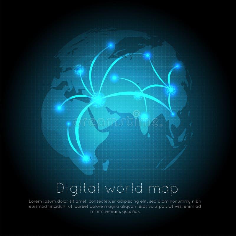 Fundo digital abstrato com textura da placa de circuito da tecnologia Cartão-matriz eletrônico Conceito de uma comunicação e da e ilustração do vetor