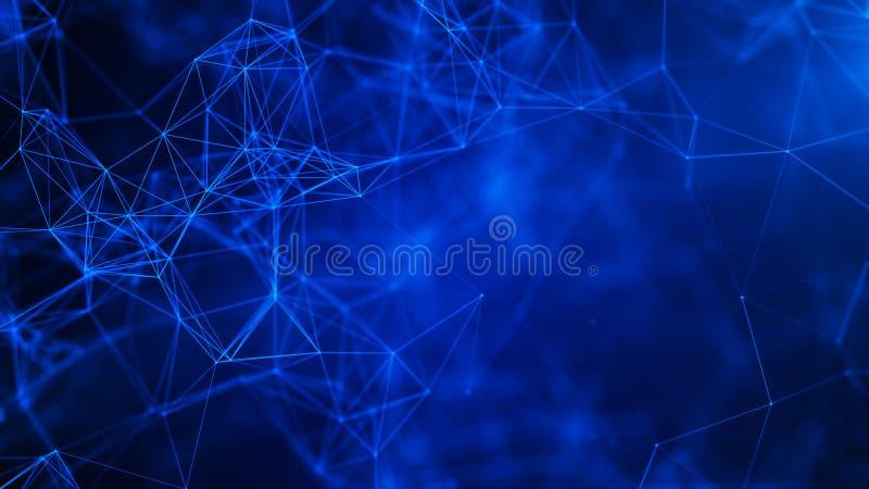Fundo digital abstrato Conex?o de rede Fundo da ci?ncia Fundo tecnologico futurista rendi??o 3d fotos de stock