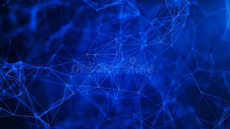 Fundo digital abstrato Conex?o de rede Fundo da ci?ncia Fundo tecnologico futurista rendi??o 3d imagens de stock