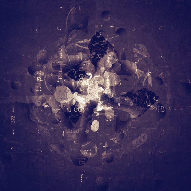 Fundo digital abstrato textured arte do Grunge ilustração do vetor