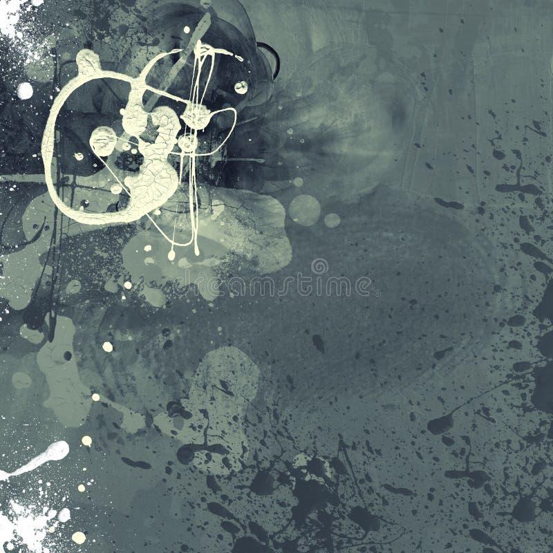 Fundo digital abstrato textured arte do Grunge fotos de stock