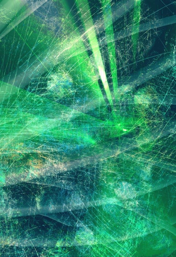 Fundo digital abstrato textured Grunge ilustração royalty free