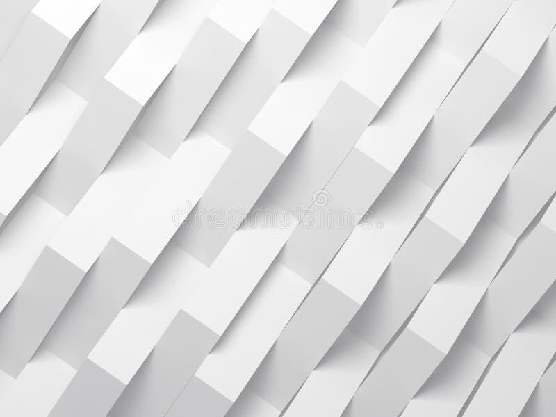 Fundo digital branco abstrato, 3d ilustração stock