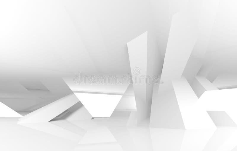 fundo digital branco abstrato da arquitetura 3d ilustração do vetor