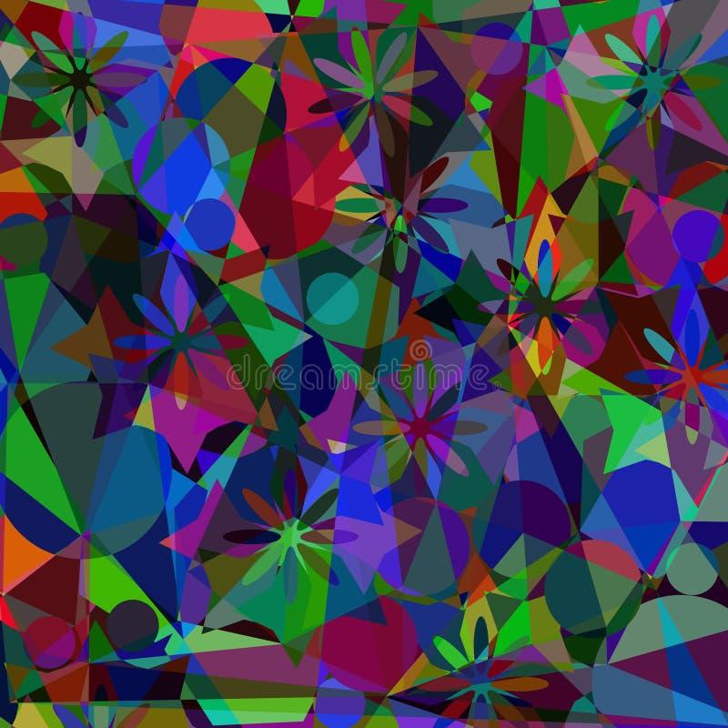 Fundo digital da pintura do mosaico poligonal artístico abstrato ilustração royalty free