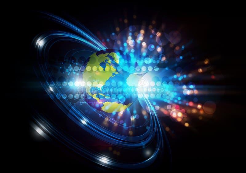 Fundo digital da rede global ilustração royalty free