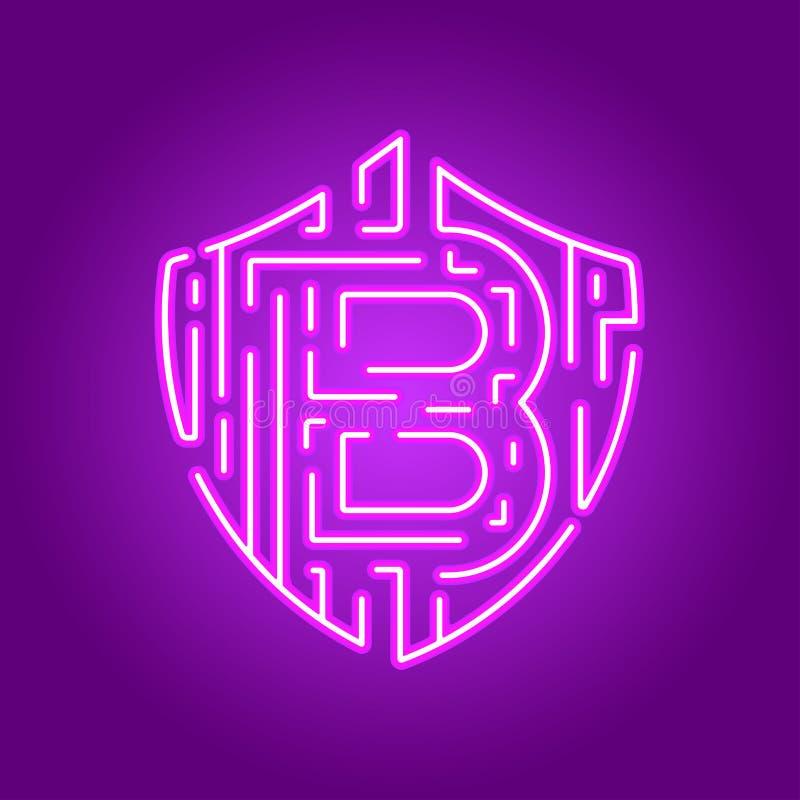 Fundo digital futurista com conceito da rede da tecnologia do bitcoin ilustração royalty free