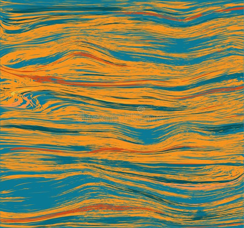 Fundo dinâmico abstrato com o córrego da água no rio, lago, oceano com patchs da luz solar ilustração royalty free