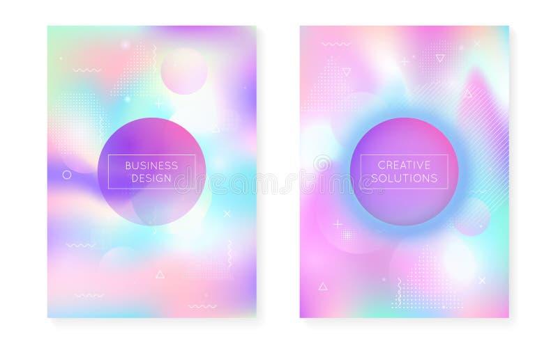 Fundo dinâmico da forma com líquido líquido Bauhaus holográfico ilustração royalty free